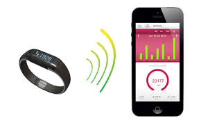 smartphone and activity tracker