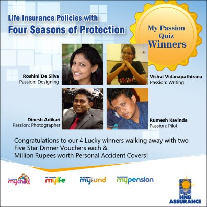 HNB Assurance My Passion Quiz Winners