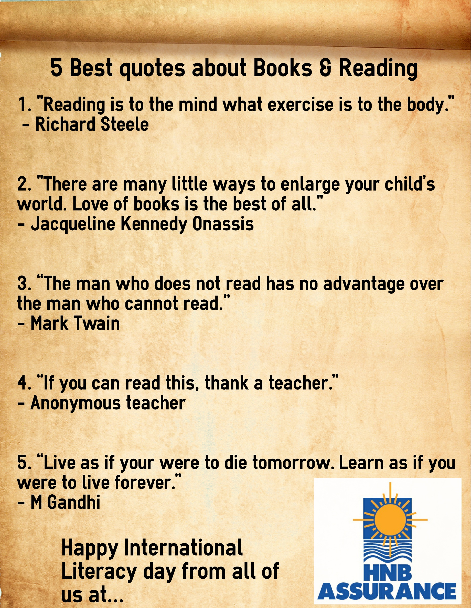 Famous Quote Of The Day Infographic In Honor Of World Literacy Day Here Are Our Top 5