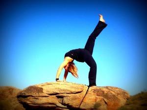 yoga backbend, girl yoga pose