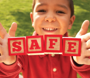 SAFE Block letters chilld safety